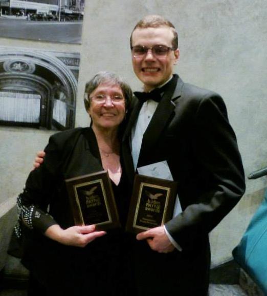 Chris Humphrey with John Austin and their awards!